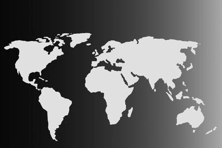 Roughly sketched out world map as global business concepts Imagens