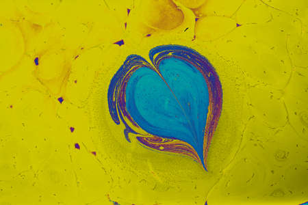 Abstract marbling heart pattern for fabric,  design. Creative marbling background texture