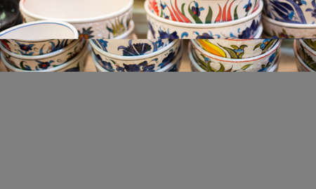 Souvenir and gift bowls plates in Ottoman style and art patterns