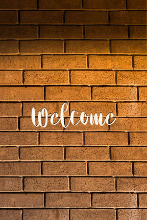 Welcome text wording on a background for business concept