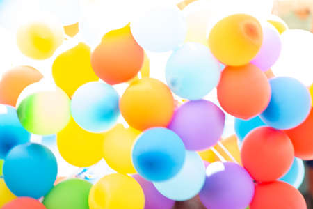 Bunch of multi color balloons for the outdoor party