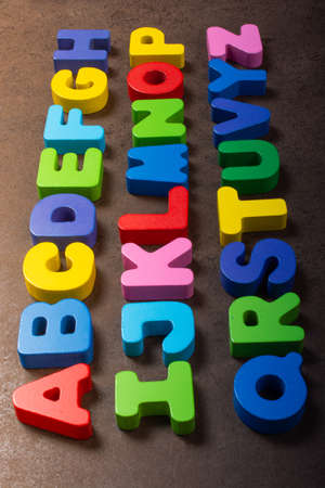 Alphabet  ABC  wooden  letters for early education concept Stock fotó