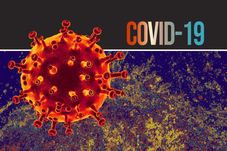 Coronavirus disease (COVID-19 )outbreak and coronaviruses influenza background.