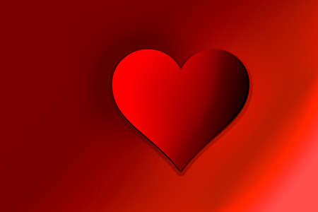 Valentine's Day colorful Background with red Heart Shape as Love concept