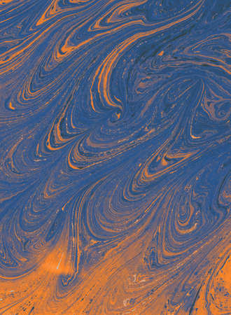 Traditional Ottoman Turkish abstract marbling art patterns as background Stok Fotoğraf