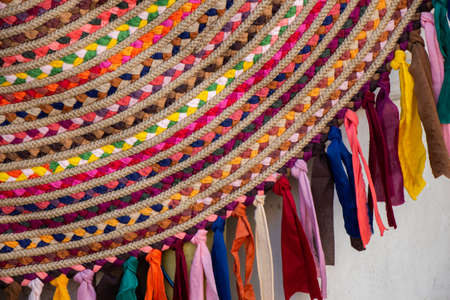 The texture of string, weaving from string background Stok Fotoğraf
