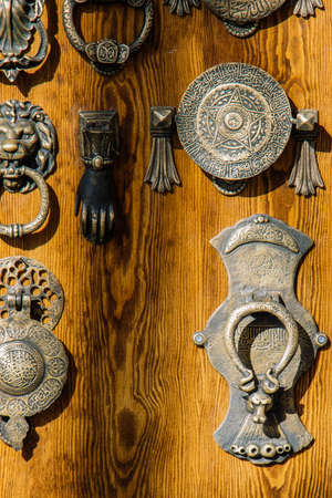 Old Handmade ottoman door handle made of metal