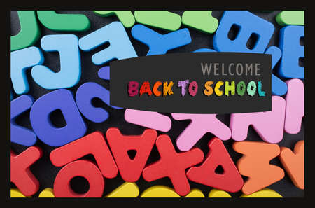 Back to school, education background  for invitation, promotion poster, banner