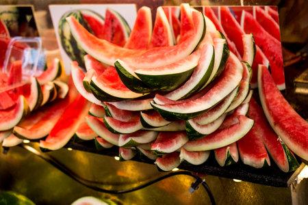 Eaten piece of watermelon crust watermelon stubs