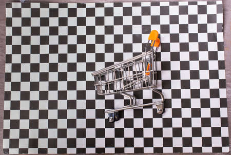 single empty shopping-cart as business concept Stock Photo