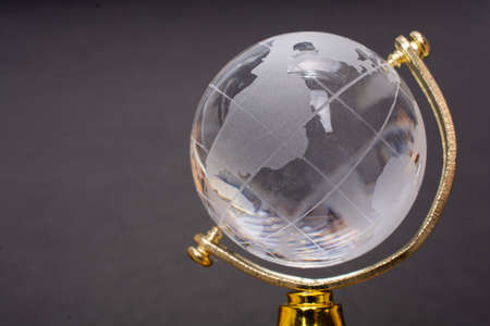 World globe cystal glass  Global business  and ecology concept.