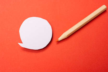 Mini speech bubble for expressing idea, thought and speech