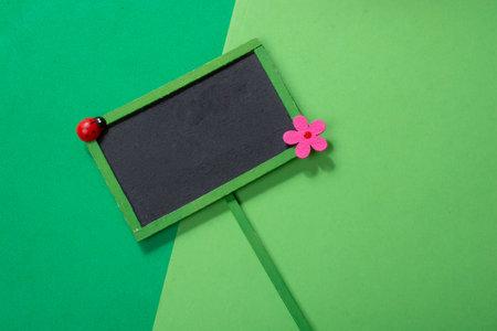 empty green frame notice board