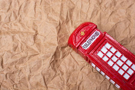 Classical British style Red phone booth of London Stock Photo