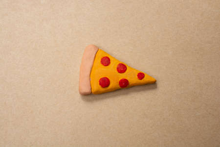 Piece of pizza Icon.  Love of Cooking food concept Stock Photo