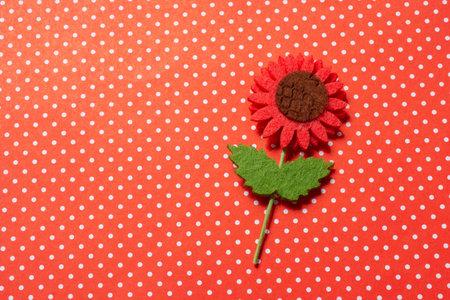 Fake flower made of felt   Mother day, Valentines day, Wedding, Birthday concept.