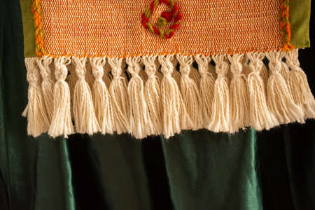 Selection of Ottoman Turkish traditional tassels in various colors Banque d'images