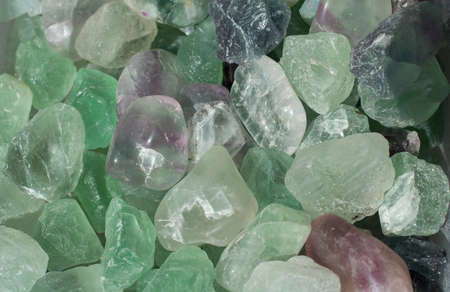 Fluorite green crystal, shades of green, magent