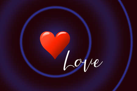Heart shape as symbol of love and care. Happy Valentines Day heart greeting