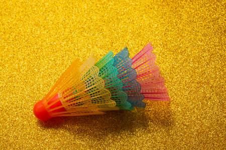 Colorful feather shuttlecock Sports equipment for badminton game.