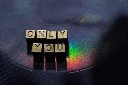 only you - metal cube lettering inscription text to valentines day