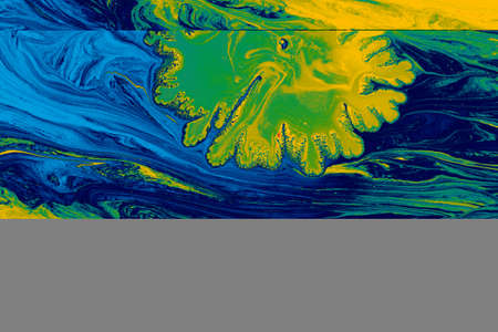 Abstract background of acrylic. Colourful rpaint dissolve
