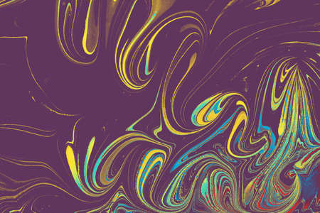 Abstract marbling floral pattern for fabric, tile design. background texture