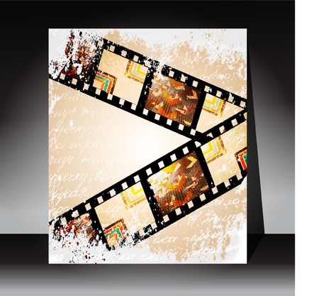 Film strip vector background Vector