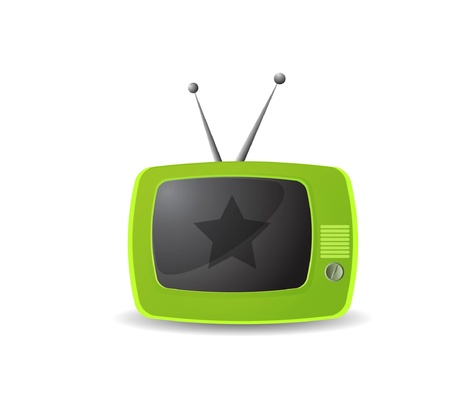 Cute retro tv vector Stock Vector - 10227464