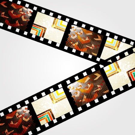 Film strip vector background Vector