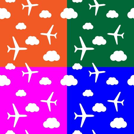 seamless airplane pattern Stock Vector - 10227454