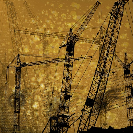 Construction of a building Vector