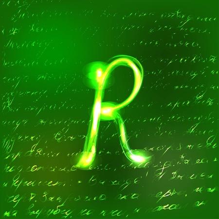 Vector alphabet. Vector