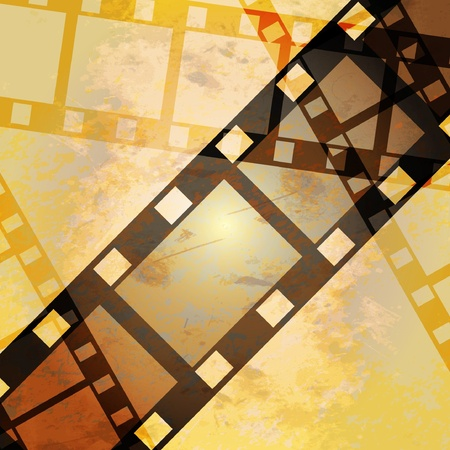reels: vector moviephoto film - illustration on gradient background