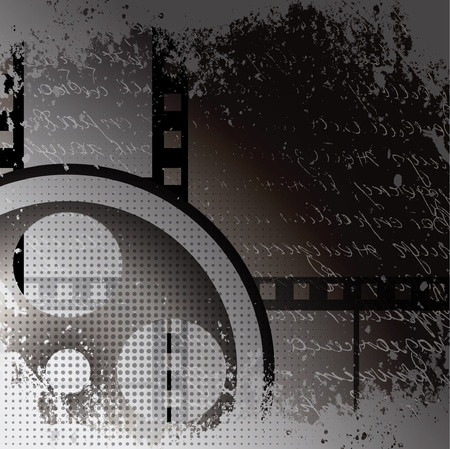 vector moviephoto film - illustration on gradient background