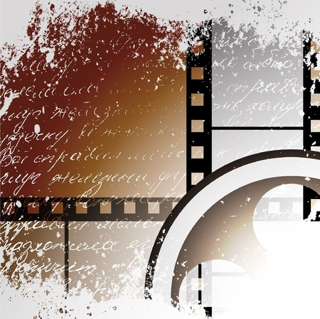 vector moviephoto film - illustration on gradient background Vector