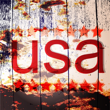 Set of vector flags of the USA Vector