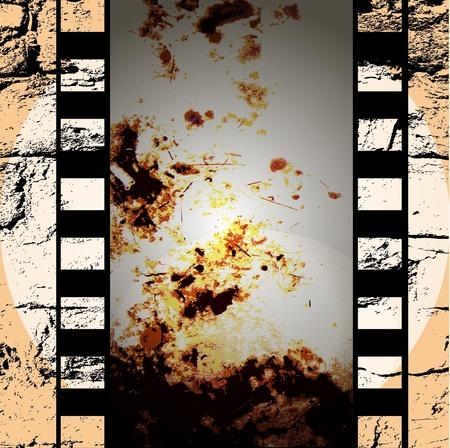 vector movie/photo film - illustration on gradient background Stock Vector - 10440572