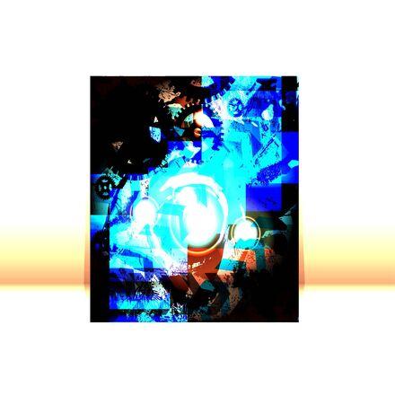 Presentation of flyer design content background. editable vector illustration Vector