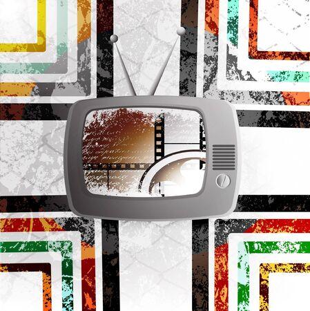 television aerial: Retro TV background
