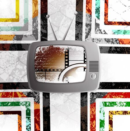 old fashioned tv: Retro TV background