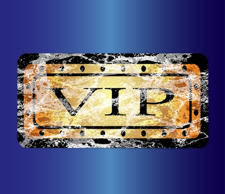 Gold VIP card Vector