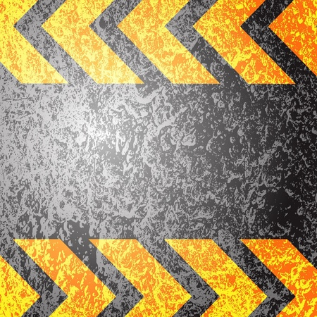 hazard stripes: A grungy and worn hazard stripes texture. Illustration