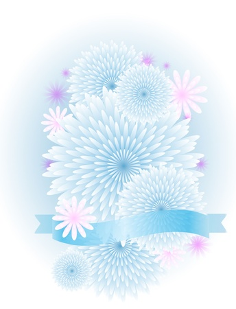 Greeting floral border Vector