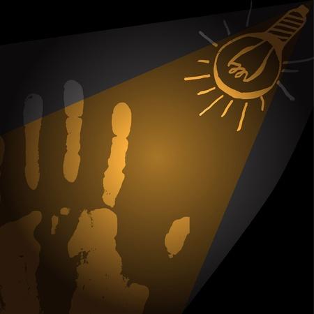 human hand, light bulb Stock Vector - 11056771