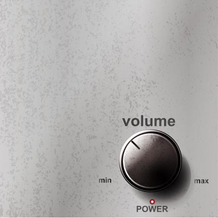 hi fi system: Volume button