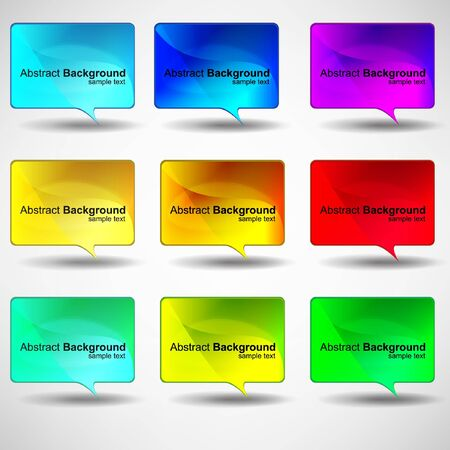 Abstract glossy speech bubble vector background Vector