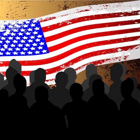 American People protesting development Stock Vector - 11144539
