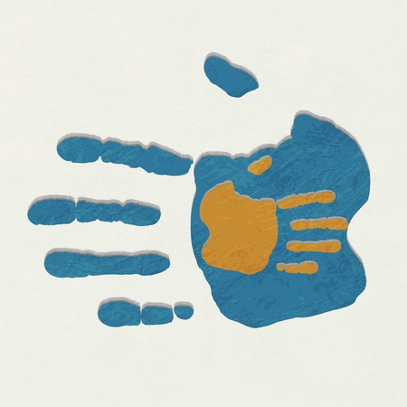 mature adult: handshake background Illustration