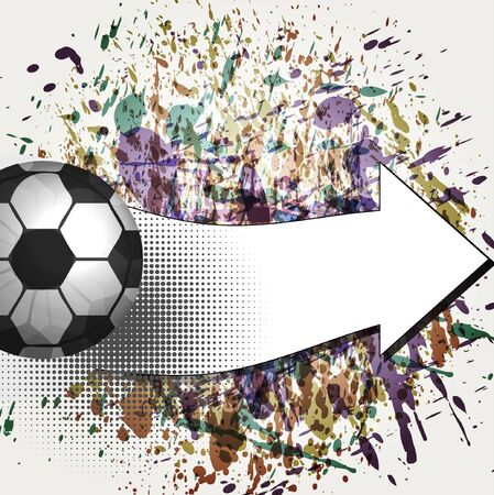 Contemporary Art. Football background Vector